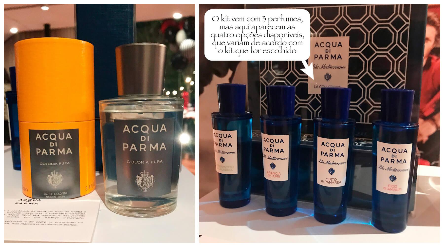 Lançamentos Sephora da Acqua Di Parma, a Colonia Pura e o kit presenteável Blu Mediterraneo La Collezione